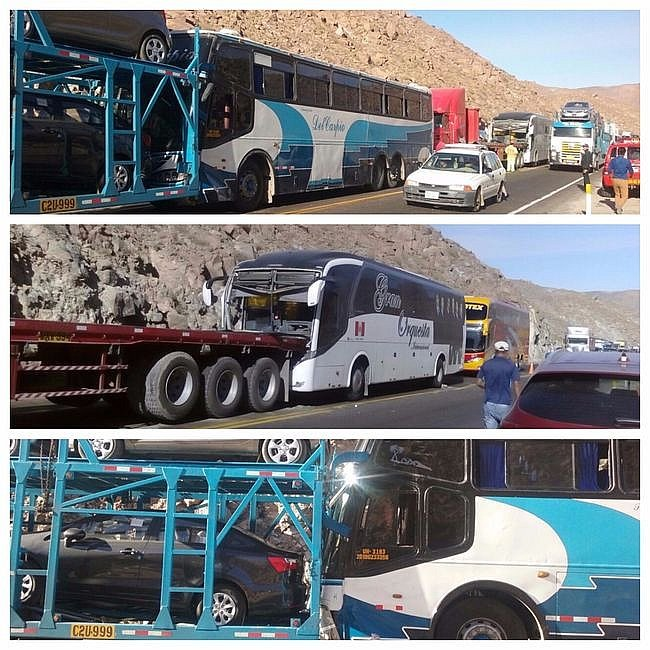 Se accidenta bus que transportaba a la Gran Orquesta Internacional — Arequipa