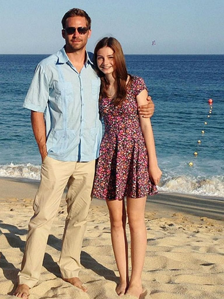 ?Meadow Rain Walker with her dad Paul Walker