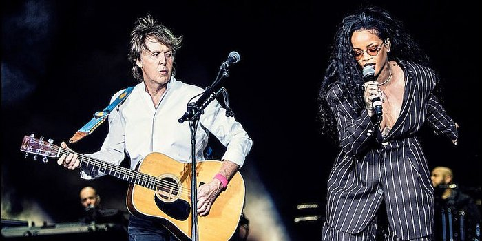 Rihanna aparece en concierto de Paul McCartney y emociona a fans con este tema [VIDEO]
