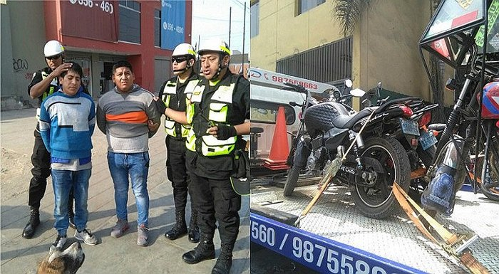 Ate: Dos sujetos acusados de robar motos son capturados en operativo (VIDEO)