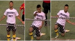YouTube: futbolista le propone matrimonio a su novia tras anotar un golazo (VIDEO)