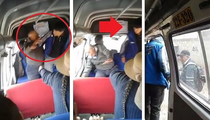 Abuelito no quiso pagar 80 céntimos de pasaje y cobrador hizo lo impensable (VIDEO)