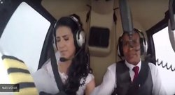 ¡Terrible! Novia que iba a su boda muere en accidente aéreo y todo queda grabado (VIDEO)