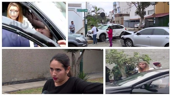 Brunella Horna se accidentó en auto de madre de Richard Acuña — Surco