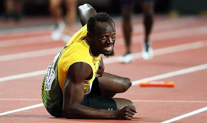 Más triste y terrible no pudo ser la despedida de Usain Bolt (VIDEO)