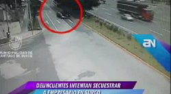 Empresario se salva de ser secuestrado en Surco (video)