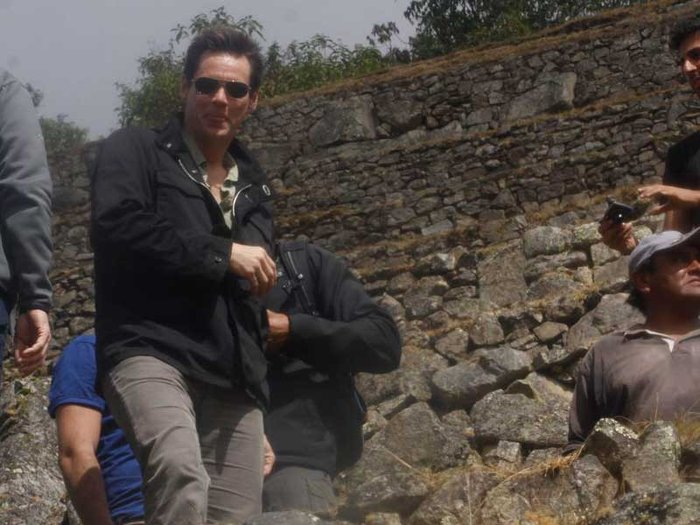 Famoso actor Jim Carrey disfruta de Machu Picchu