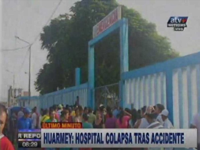 Huarmey: Hospital colapsa tras terrible accidente [VIDEO]