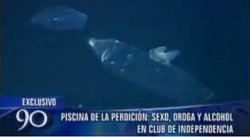 Intervienen 'piscina' en la que abunda el sexo, la droga y el alcohol [VIDEO]