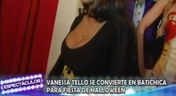 "Vanessa Tello se viste de sexy batichica para invitar al ""Fantasy Halloween"" [VIDEO]"