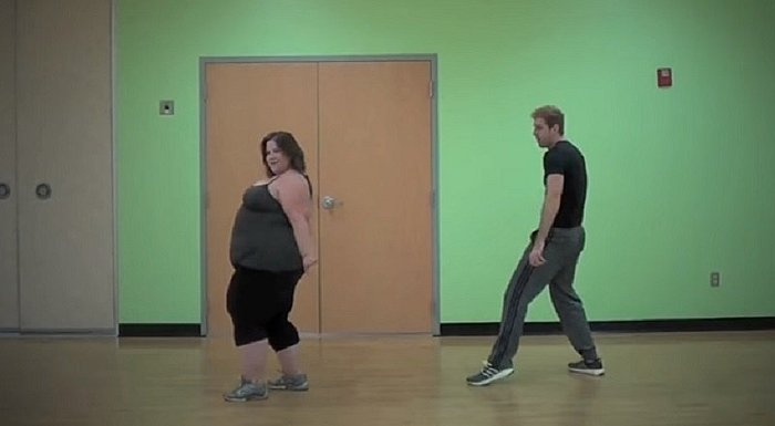 YouTube: Bailarina con 172 kilos hace espectaculares pasos y sorprende [VIDEO]