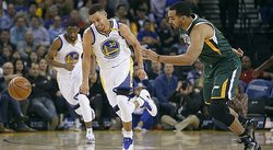 NBA: Warriors de Curry vence 104-74 a los Jazz en duelo de líderes