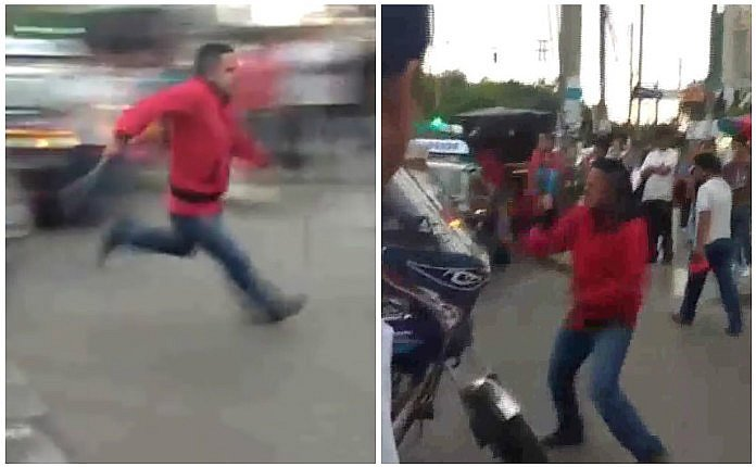 Trujillo: taxista persigue a machetazos a mototaxista y lo peor viene después (VIDEO)