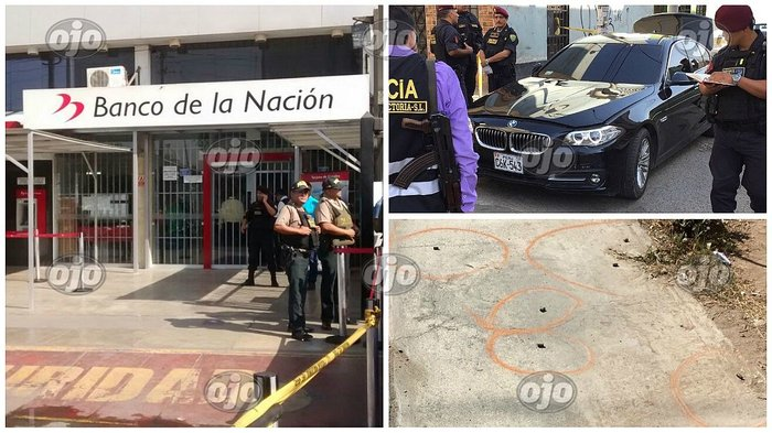 Inseguridad ciudadana: roban Banco de la Nación a bordo de lujoso auto BMW (FOTOS y VIDEO)