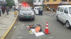 Chorrillos: ancianito muere arrollado al intentar cruzar la pista (VIDEO)
