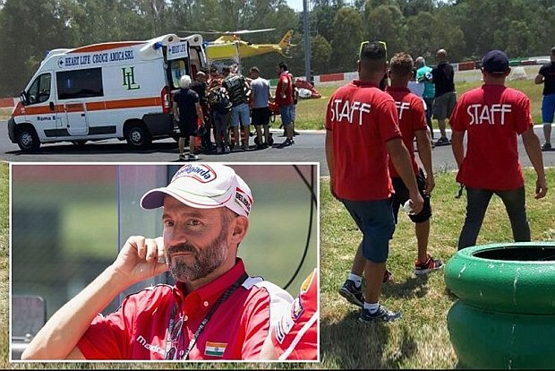 Max Biaggi permanece estable, aunque grave, tras accidente en entrenamientos
