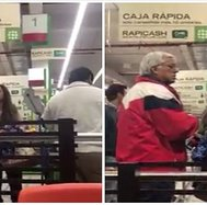 Facebook: graban agresión de mujer a adulto mayor en supermercado de La Molina (VIDEO)