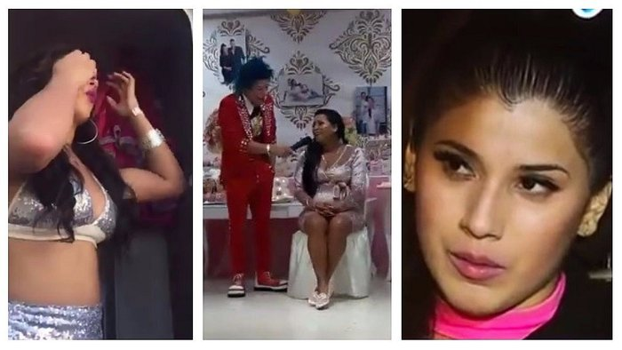 Paula Arias de Son Tentación no olvida a Yahaira Plasencia en su baby shower (VIDEO)