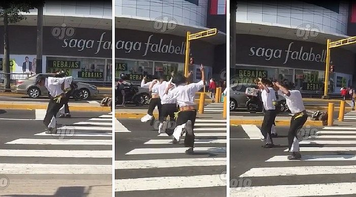 Fiestas Patrias: bailan huayno de forma espectacular en plena calle (VIDEO)