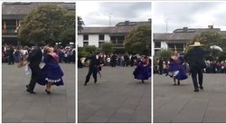 Fiestas Patrias: la marinera se luce en Plaza Mayor de Quito y se roba los aplausos (VIDEO)