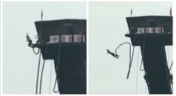 YouTube: hace bungee jumping, cuerda se desprende y el final es inesperado (VIDEO)