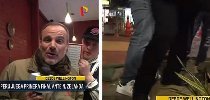 Perú vs. Nueva Zelanda: periodistas peruanos agredidos por neozelandeses en pleno enlace en vivo (VIDEO)
