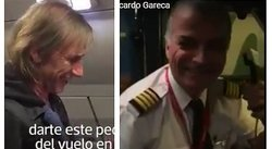 ​YouTube: el bello gesto de piloto en vuelo con Ricardo Gareca (VIDEO)