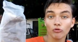 Facebook: joven vendedor de chocolate causa furor con peculiar estilo (VIDEO)