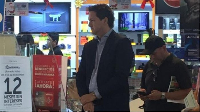 Daniel Salaverry es captado en caja preferencial (VIDEO)