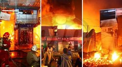 Incendio consume mercado 'Monumental' de Puente Piedra (FOTOS y VIDEOS)
