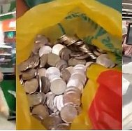 Jóvenes deciden 'vengarse' de supermercado pagando con cinco céntimos (VIDEO)