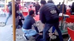 Captan precisos instantes que extranjeros son detenidos en Plaza Norte (VIDEO)