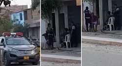 Policías son captados bebiendo licor en plena calle mientras estaban de servicio (VIDEO)