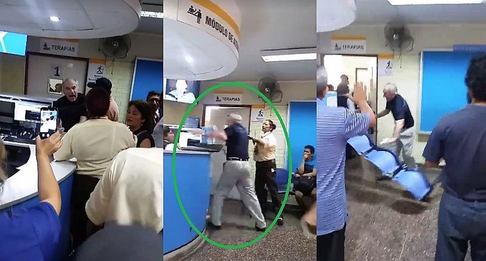 ​Abuelito pierde los papeles en centro de salud al no encontrar referencia (VIDEO)