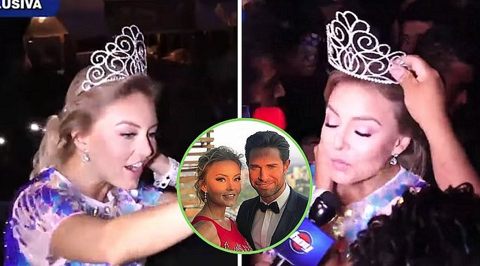 Angelique Boyer es agredida con latas de cerveza mientras era coronada | VIDEO