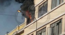 Incendio en inmediaciones del Mercado Central (VIDEO)