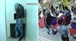 La inusual captura de un ladrón que asaltaba supermercados (VIDEO)