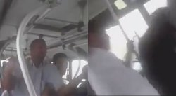 Cobrador de bus es cobardemente agredido por cuatro extranjeros (VIDEO)