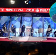 Debate municipal 2018 se desarrolló sin Renzo Reggiardo (FOTOS Y VIDEO)