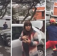 Mujer ebria atropella a bomberos al intentar huir tras provocar accidente (FOTOS y VIDEO)