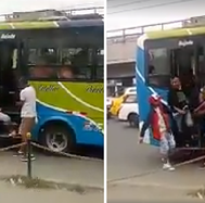 Captan a sujetos robando a pasajeros de un bus en SJM (VIDEO)