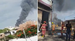 Se registra incendio en zona industrial de Piura (VIDEO)